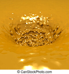 dorato, liscio, liquido, fondo, fluente