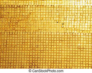 dorato, mosaico, fondo
