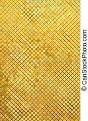 dorato, mosaico, grunge, oro, fondo