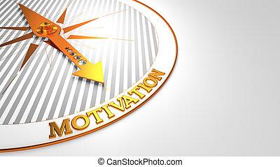dorato, motivazione, bianco, compass.
