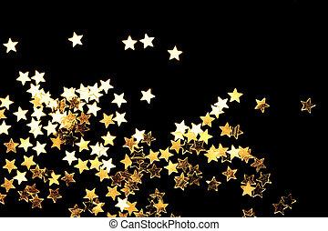 dorato, natale, stelle