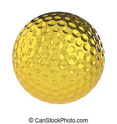 dorato, palla, golf