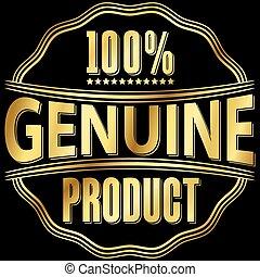 dorato, prodotto, genuino, illustrazione, vettore, etichetta, retro