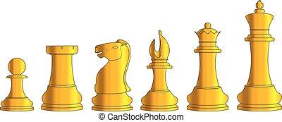 dorato, scacchi