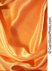 dorato, seta, liscio, fondo, elegante