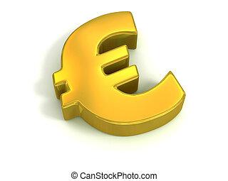 dorato, simbolo euro