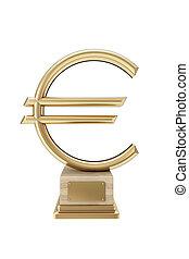dorato, simbolo, euro