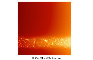 dorato, stelle, festivo, fondo, natale, rosso