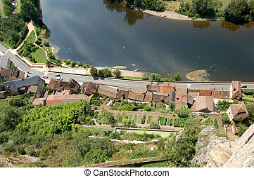 Dordogne over the edge from Chateau Beynac
