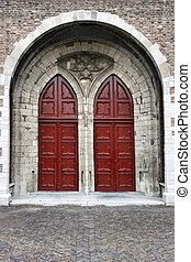 Dordrecht door - Beautiful wooden door in Dordrecht,...