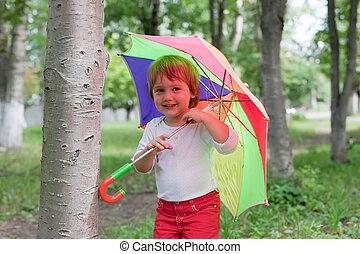 dorlotez fille, parapluie