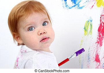 dorlotez fille, peinture