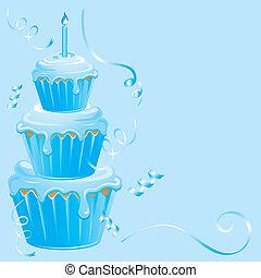 dorlotez garçon, anniversaire, petit gâteau
