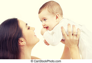 dorlotez garçon, heureux, mère