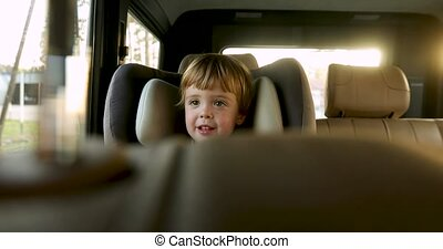 dorlotez garçon, siège, enfants, voiture