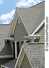 Dormer Roof - Architectural roof design with dormer windows,...