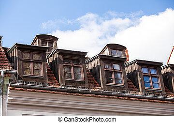 dormer windows on a roof
