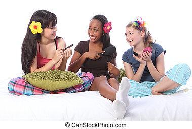 dormicchiare festa, truccare, giochi, per, ragazze...