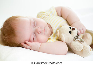 dormir, bébé, nouveau né
