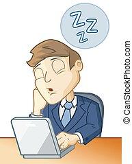 dormir, escrivaninha