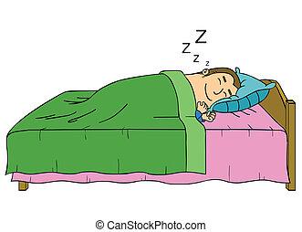 dormir, homem