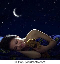 dormir, menina
