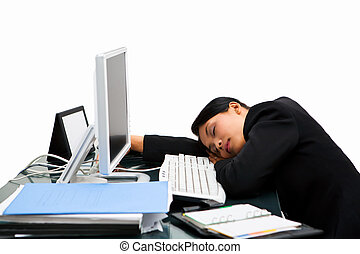 dormir, secretária