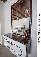 dormitorio, cajones, apartamento, tabla, aliño