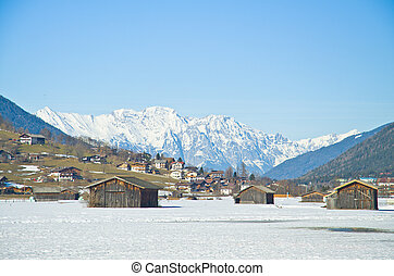 dorp, in, winter, innsbruck