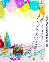 dort, strana, narozeniny, děti, čokoláda