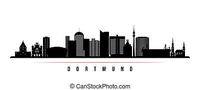 dortmund, banner., horizontal, contorno