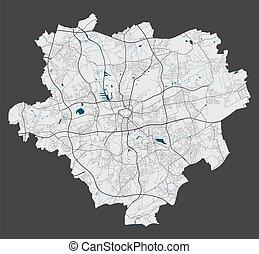 dortmund, cityscape., detallado, illustration., ciudad, ...