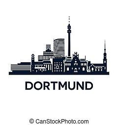 Dortmund Skyline Emblem