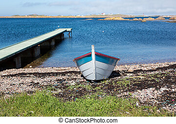 Dory and Wharf - Dory and wharf on the French island of...