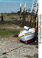 Dory at Low Tide