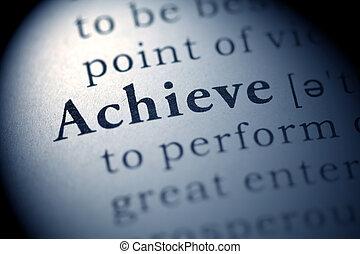 dosáhnout