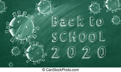 dos, école, 2020