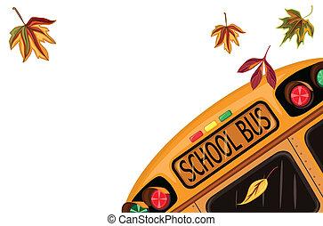dos, école, septembre