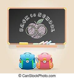 dos, école, thème