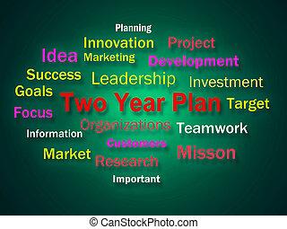 dos, año, plan, idea genial, exposiciones, planificación, para, luego, 2, años