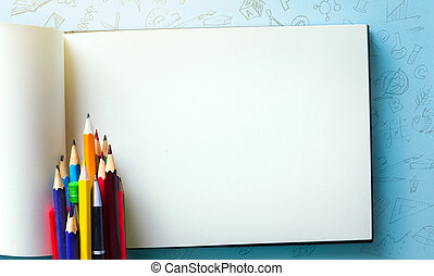 dos, accueil, banner;, fournitures, école, tumblr, art