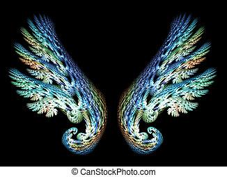 dos, alas ángel