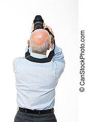dos appareil-photo, homme, vue