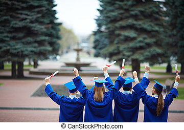 dos, de, diplômés