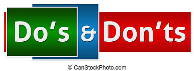 Dos Donts Green Red Button Style - Dos and Donts concept ...