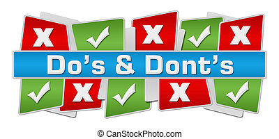 Dos Donts Up Down Green Red Squares - Dos and donts concept ...