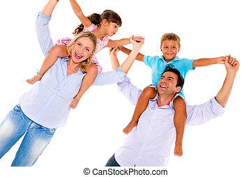 dos, familia , niños