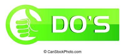 Dos Green Button Style Web
