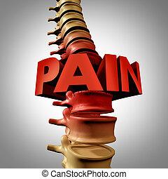 dos, humain, douleur