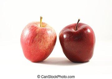 dos, manzanas